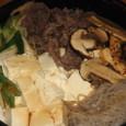 松茸のすき焼き