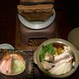 富山新湊の民宿の料理