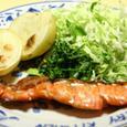 鮭の西京焼きとポテト