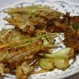 野菜のかき揚げ、鰯のすり身とゴボウの天婦羅