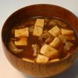 八丁味噌の豆腐の味噌汁