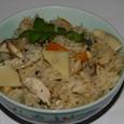 五島風筍と焼き鯖の炊き込みご飯