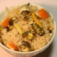 ナガラミの煮汁と身の炊き込みご飯