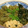 ワラビと若布の煮物