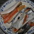 鮭の皮とハラス