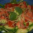 鮭のアボガドサラダ