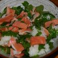 絞め鮭と青紫蘇のチラシ寿司