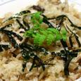 鰹のアラの身で炊き込みご飯