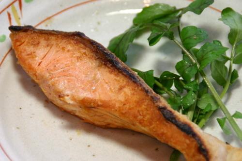 紅鮭の塩物 焼き