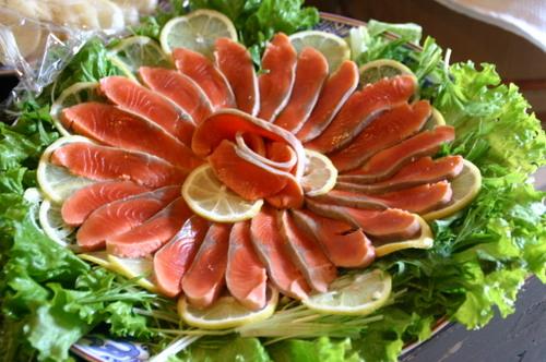 鮭酢〆のサラダ
