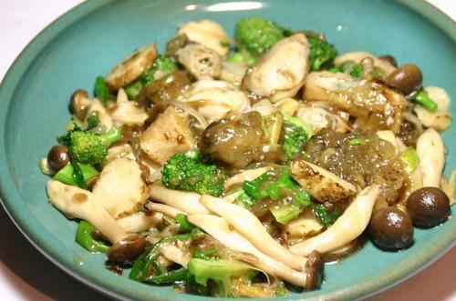 牡蠣と野菜の中華風炒め