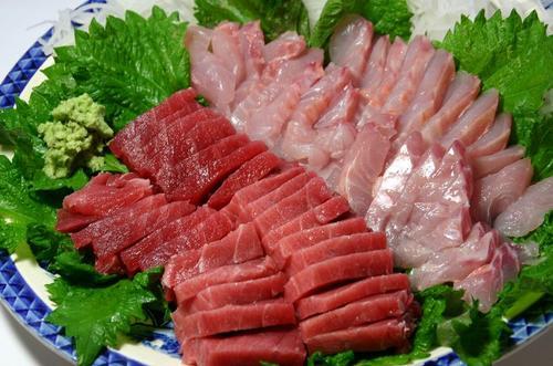金目鯛と本マグロ中トロのお刺身
