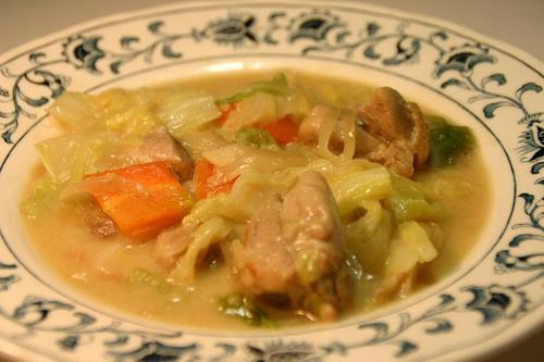 白菜の鶏クリームシチュー