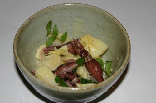 蛍烏賊、筍、木の芽の酢味噌和え