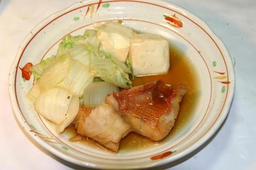 冷凍赤魚の煮つけ