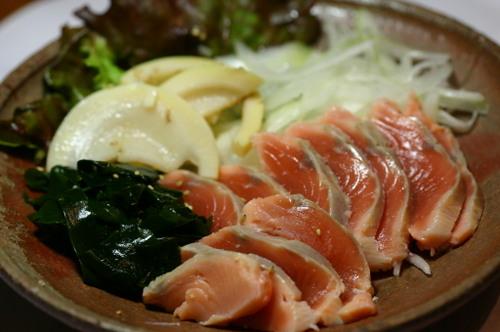 鰹の酢絞め サラダ