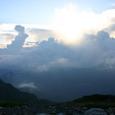 仙丈が岳を覆う雲