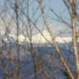 梅が島 八紘嶺より 南アルプス北岳