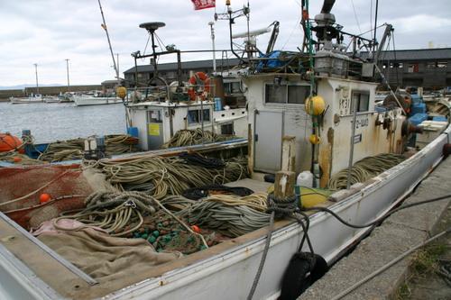 富山 新湊の漁船