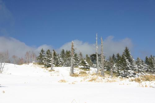 雪の山伏岳