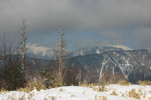 山伏岳 頂上から南アルプスを