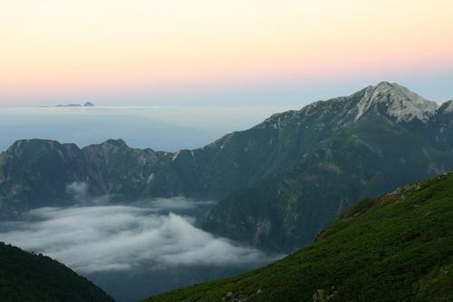 仙丈ケ岳の夕暮れ