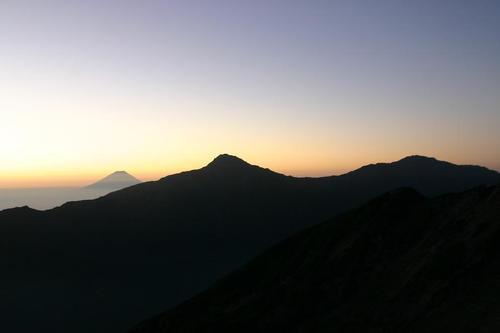 富士と北岳