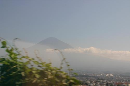 身延線山梨側からの冨士山